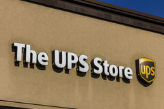 Kokomo - Circa November 2016: UPS Store Location. UPS is the World`s Largest Package Delivery Company II. UPS Store Location. UPS is the World`s Largest Package Royalty Free Stock Photos