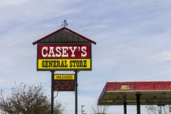Kokomo - Circa October 2016: Casey's General Store Gas and Convenience Location I Royalty Free Stock Photo