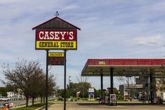 Kokomo - Circa October 2016: Casey's General Store Gas and Convenience Location II Royalty Free Stock Photos