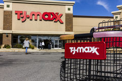 Kokomo - Circa October 2016: T.J. Maxx Retail Store Location. T.J Maxx is a discount retail chain V Royalty Free Stock Images