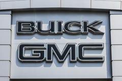 Kokomo - Circa September 2017: De Vrachtwagen van GMC en Buick-en SUV-het handel drijven GMC en Buick zijn afdelingen van GM II Royalty-vrije Stock Afbeeldingen
