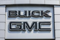 Kokomo - Circa September 2017: GMC and Buick Truck and SUV dealership. GMC and Buick are divisions of GM II. GMC and Buick Truck and SUV dealership. GMC and royalty free stock images