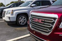 Kokomo - Circa September 2017: GMC och Buick lastbil och SUV återförsäljare GMC och Buick är uppdelningar av GM V fotografering för bildbyråer