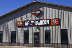 Kokomo, DENTRO - cerca do fevereiro de 2016: Harley-Davidson Motorcycle Dealership mim fotografia de stock royalty free
