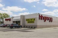 Kokomo - Około Kwiecień 2017: hhgregg lokacja hhgregg ogłaszał mnie segreguje dla bankructwa i zamykać wszystko przechuje V Zdjęcia Stock