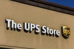 Kokomo - Około Listopad 2016: UPS sklepu lokacja UPS jest Światowym ` s Wielki Pakujący Dostawa Firma II Zdjęcia Royalty Free