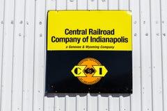 Kokomo - Około Marzec 2018: Środkowa linia kolejowa Indianapolis biuro i Signage Ja Obrazy Stock