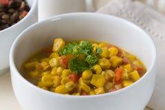 Kokonussmilch Mais-Curry Stockfotos