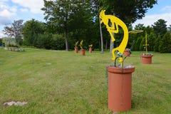 Kokopelli雕塑 库存图片