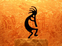 Kokopelli. Native american god of music and fertility Stock Photos