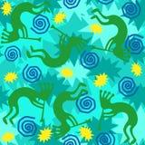 Kokopelli Background Tile. Background of kokopelli trickster in seamless tile Royalty Free Stock Images