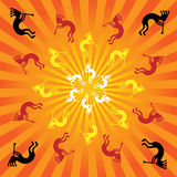 Kokopelli Burst Royalty Free Stock Images