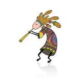 Kokopelli - Doodle style Royalty Free Stock Images