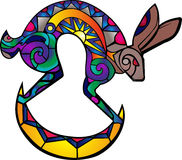Kokopelli hare Royalty Free Stock Photo
