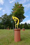 Kokopelli Sculpture Stock Image