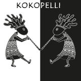 Kokopelli - vector ethnic illustration. Stock Image