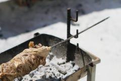 Kokoretsi传统希腊肉食物 库存图片