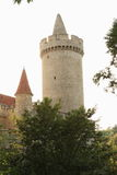 Kokorin城堡塔  免版税库存图片