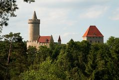 Kokorin Castle Royalty Free Stock Photo