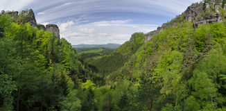 Pravcicky valley, Bohemian Switzerland, Czech Repu Stock Photography