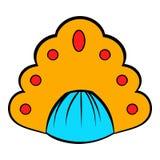 Kokoshnik icon cartoon Royalty Free Stock Photography