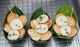 Kokosmilch mit dem Pulver gebraten Lizenzfreies Stockbild