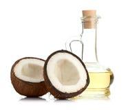 Kokosnöt och olja Royaltyfria Bilder