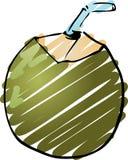 kokosnötbarn stock illustrationer