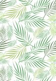 Kokosnötblad Art Seamless Pattern vektor illustrationer