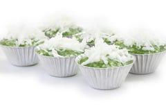 Kokosnöten för pärlemorfärg pudding för tapiokor mjölkar den söta Royaltyfri Fotografi