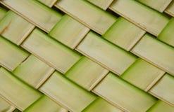 Kokosnöten lämnar väv för att mönstra Royaltyfria Bilder