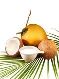 Kokosnöten mjölkar Royaltyfri Foto