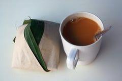 kokosnöten mjölkar rice Arkivbilder