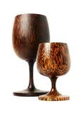 kokosnötexponeringsglas Arkivbild