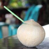 Kokosnötfruktsaft Fotografering för Bildbyråer