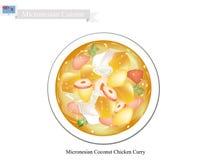 Kokosnöthönacurry, den populära maträtten av Mikronesien royaltyfri illustrationer