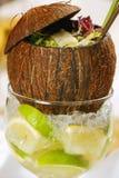kokosnötsallad Arkivbilder
