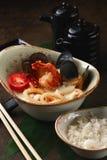 Kokosnötsoppa med skaldjur Fotografering för Bildbyråer
