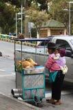 Kokosnötvagn i Ambato, Ecuador Royaltyfria Bilder