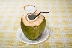 Kokosnötvattendrink Royaltyfri Foto