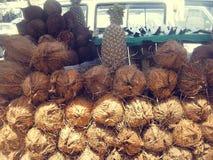 Kokosnötvattendrink Royaltyfria Bilder