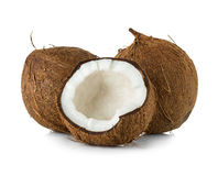 Kokosnüsse lokalisiert auf Weiß stockbild