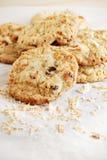 Kokosnoot-chocolade spaanderkoekjes Stock Afbeelding