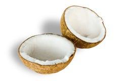 Kokosnoot voor olie het voorbereidingen treffen Royalty-vrije Stock Foto