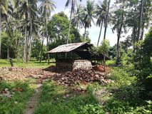 Kokosnoten drogende hut op Mindoro, Filippijnen royalty-vrije stock afbeeldingen