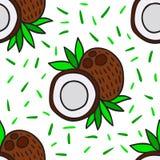 Kokosnoten naadloos patroon Royalty-vrije Stock Foto