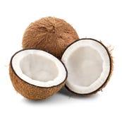 Kokosnoten op wit worden geïsoleerd dat Royalty-vrije Stock Foto