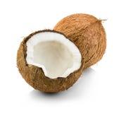 Kokosnoten op wit worden geïsoleerd dat Royalty-vrije Stock Afbeelding