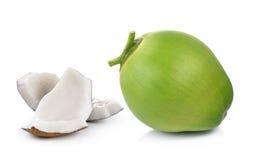 Kokosnoten op witte achtergrond Royalty-vrije Stock Foto's