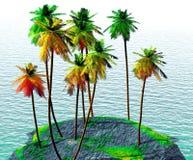 Kokosnotenbosje Stock Afbeeldingen